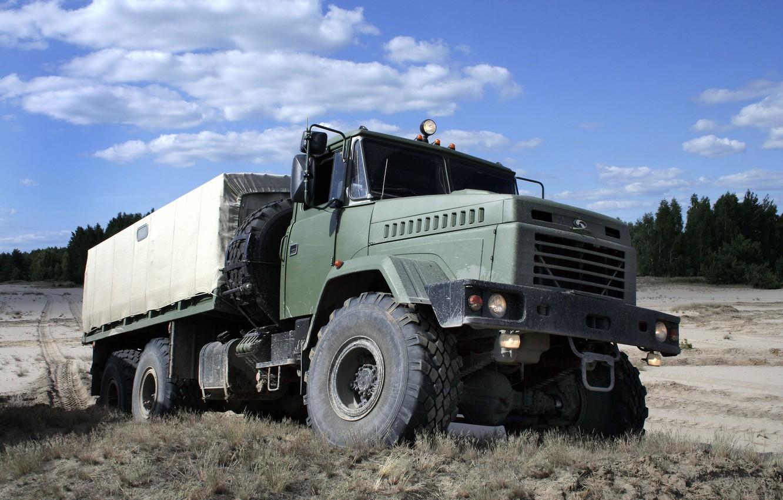 Photo wallpaper SUV, truck, the SUV, kraz, military car, KrAZ