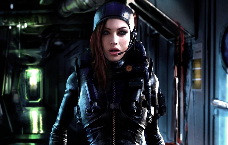 Photo wallpaper girl, face, Capcom, fan art, Resident Evil: Revelations, Biohazard, Jessica Sherawat, B.S.A.A.