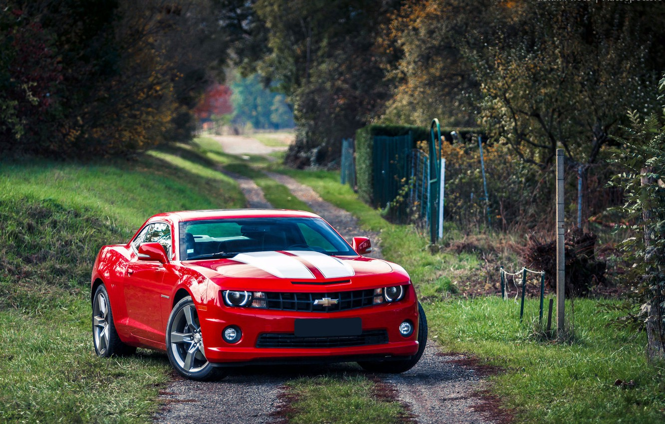 Photo wallpaper red, red, Chevrolet, muscle car, muscle car, Camaro, chevrolet camaro