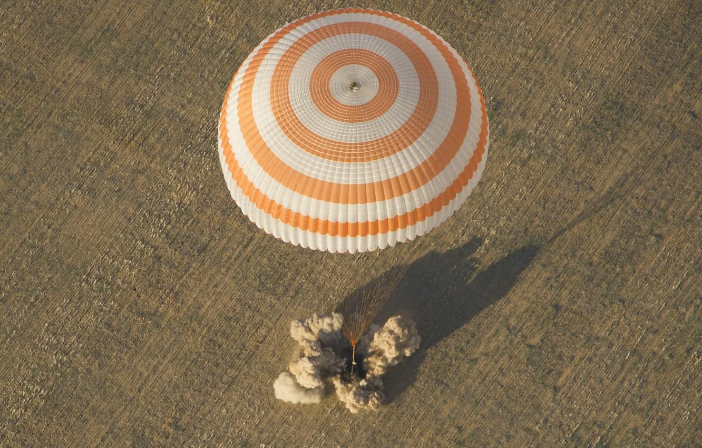 Photo wallpaper parachute, landing, The Soyuz TMA-04M