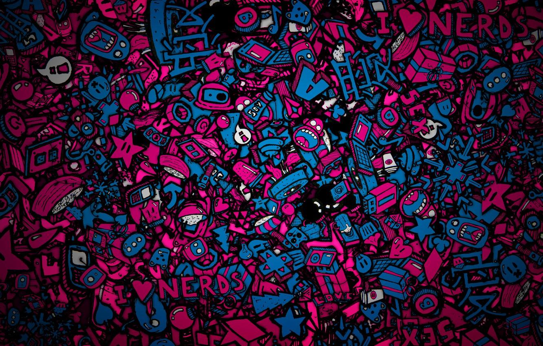 Photo wallpaper figures, faces, tokio, piling up, 1saint