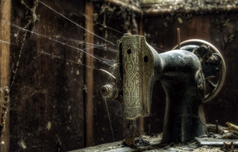 Photo wallpaper singer, fragile decay, abandonded