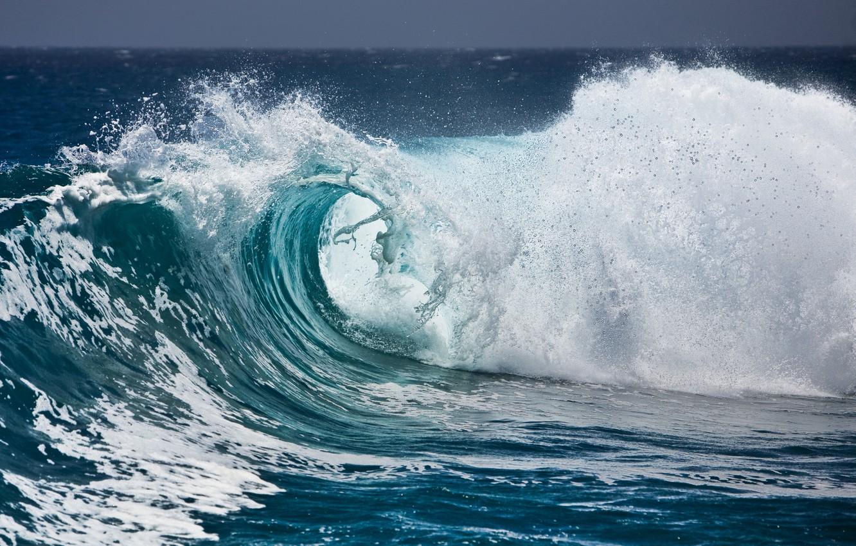 Photo wallpaper wave, foam, water, squirt, the ocean