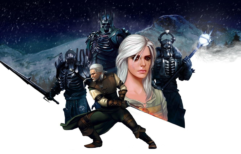 Photo wallpaper girl, art, armor, the Witcher, rpg, geralt, Gwynbleidd, CD Projekt RED, The Witcher 3: Wild …