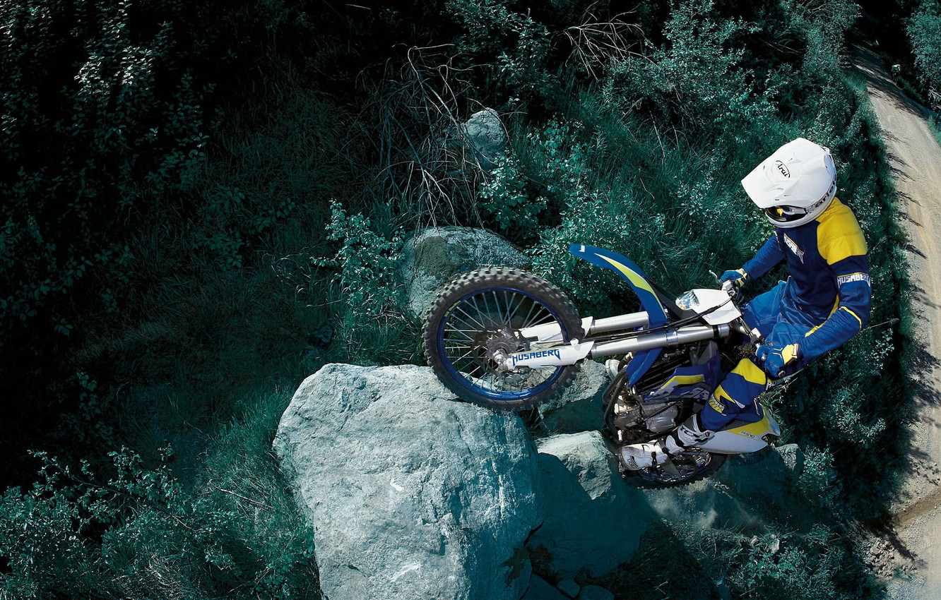 Photo wallpaper mountains, competition, sport, motorcycle
