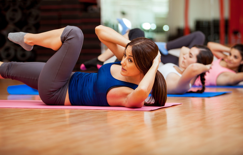 Photo wallpaper group, fitness, class