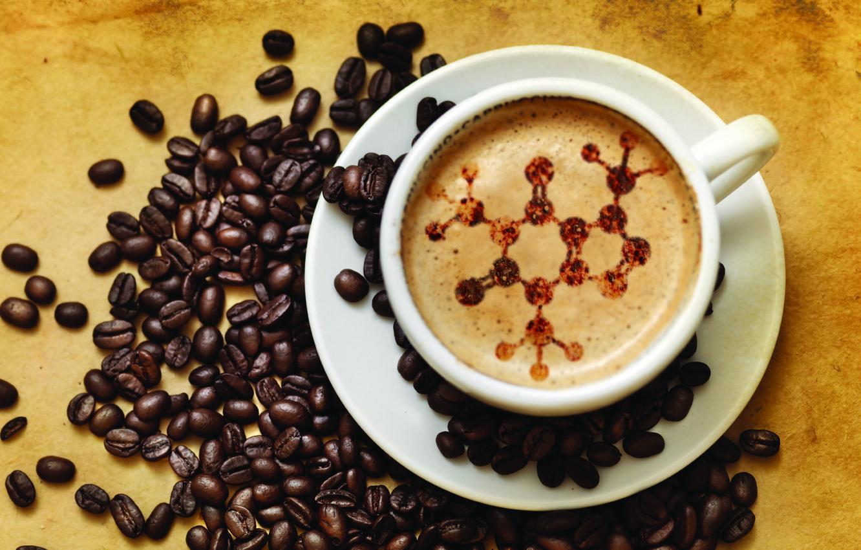 Photo wallpaper coffee, grain, Cup