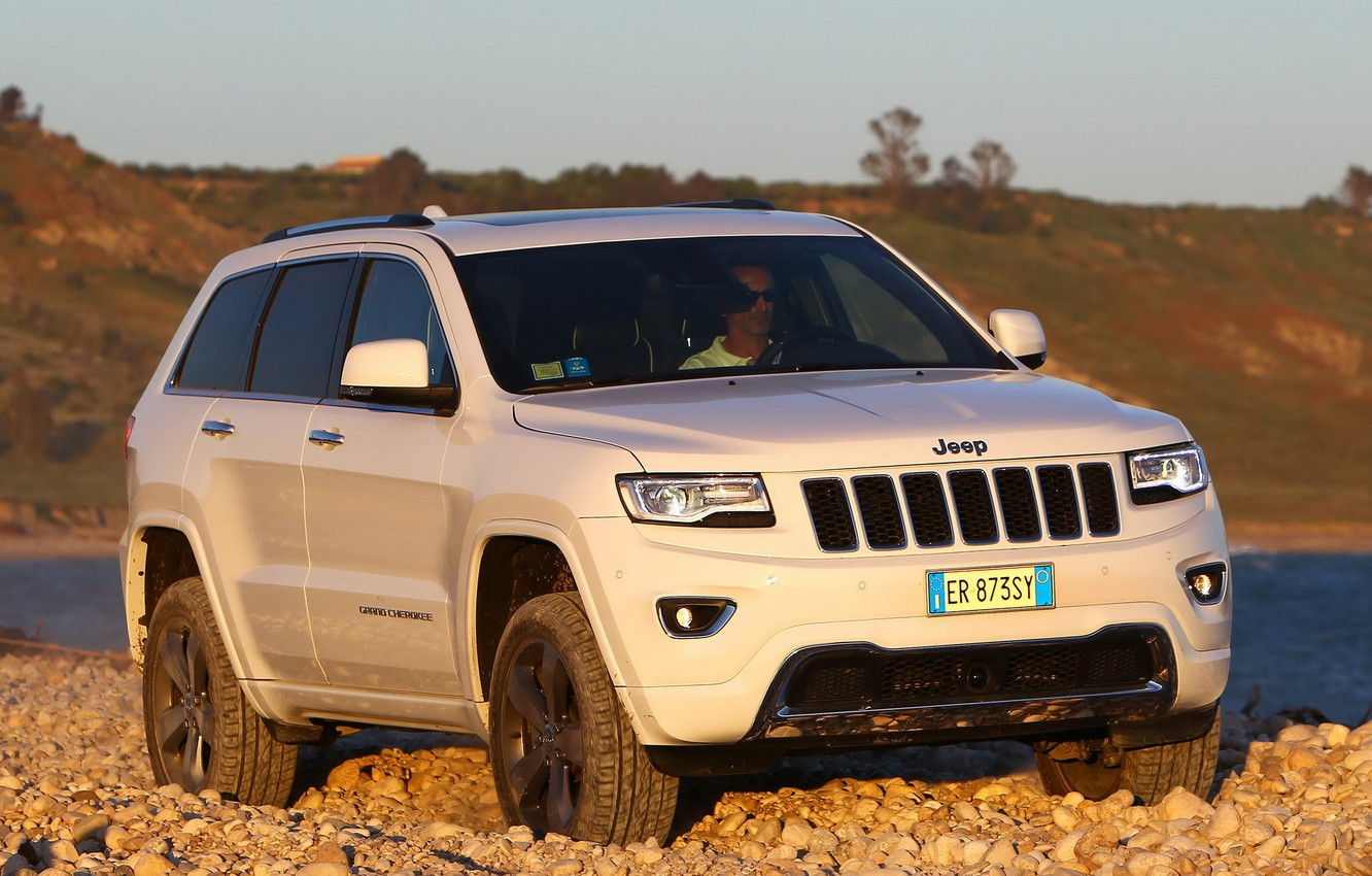 Photo wallpaper auto, jeep, the front, Jeep, Grand Cherokee, powerful, Overland