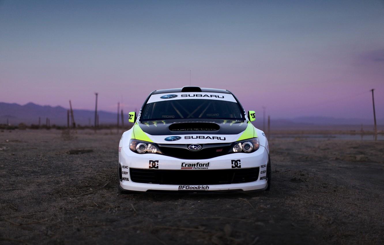 Photo wallpaper auto, the evening, Subaru, Impreza