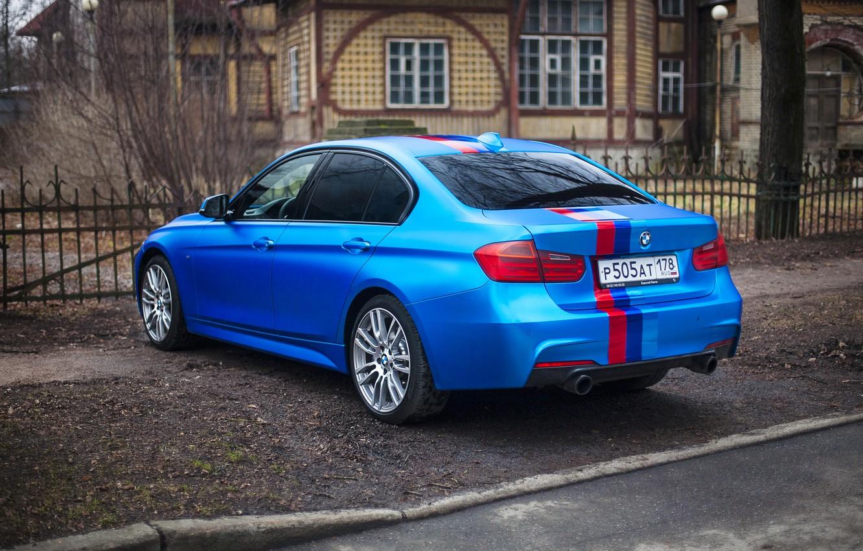 Photo wallpaper Auto, BMW, Ass, Car, Blue, 335i, xDrive