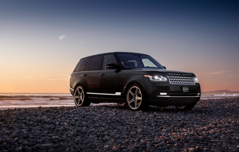 Photo wallpaper car, jeep, SUV, Range Rover, black
