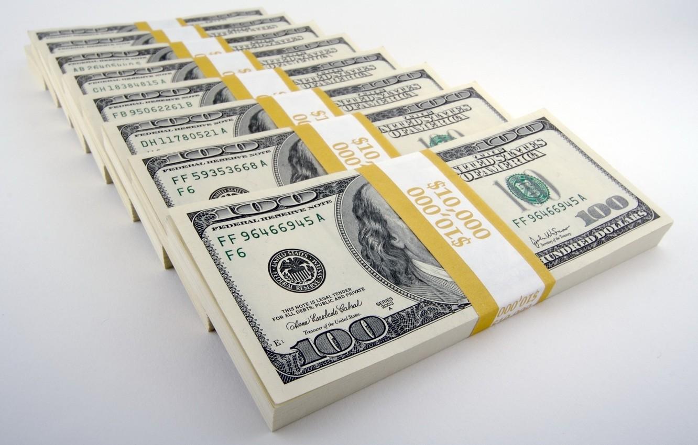 Photo wallpaper background, dollars, Money, the bucks, packs