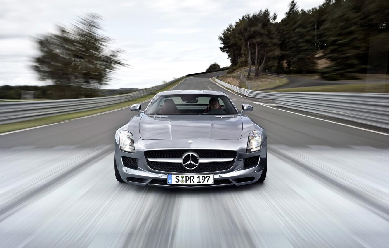 Photo wallpaper Mercedes-Benz, Mercedes, AMG, 2014, C197, SLS 63