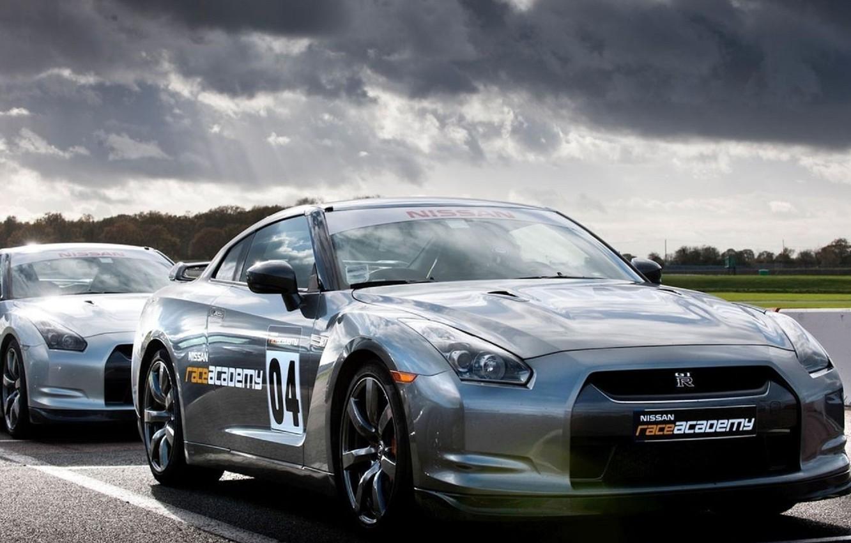 Photo wallpaper R35, Nissan GTR, race academy