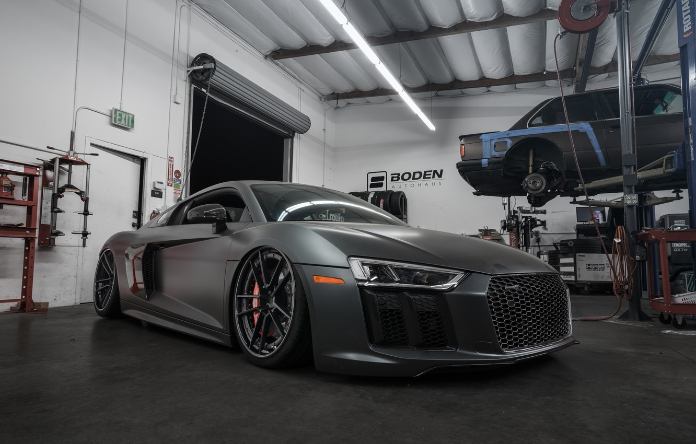 Photo wallpaper Audi, V10, Build, 2016, Boden, R8