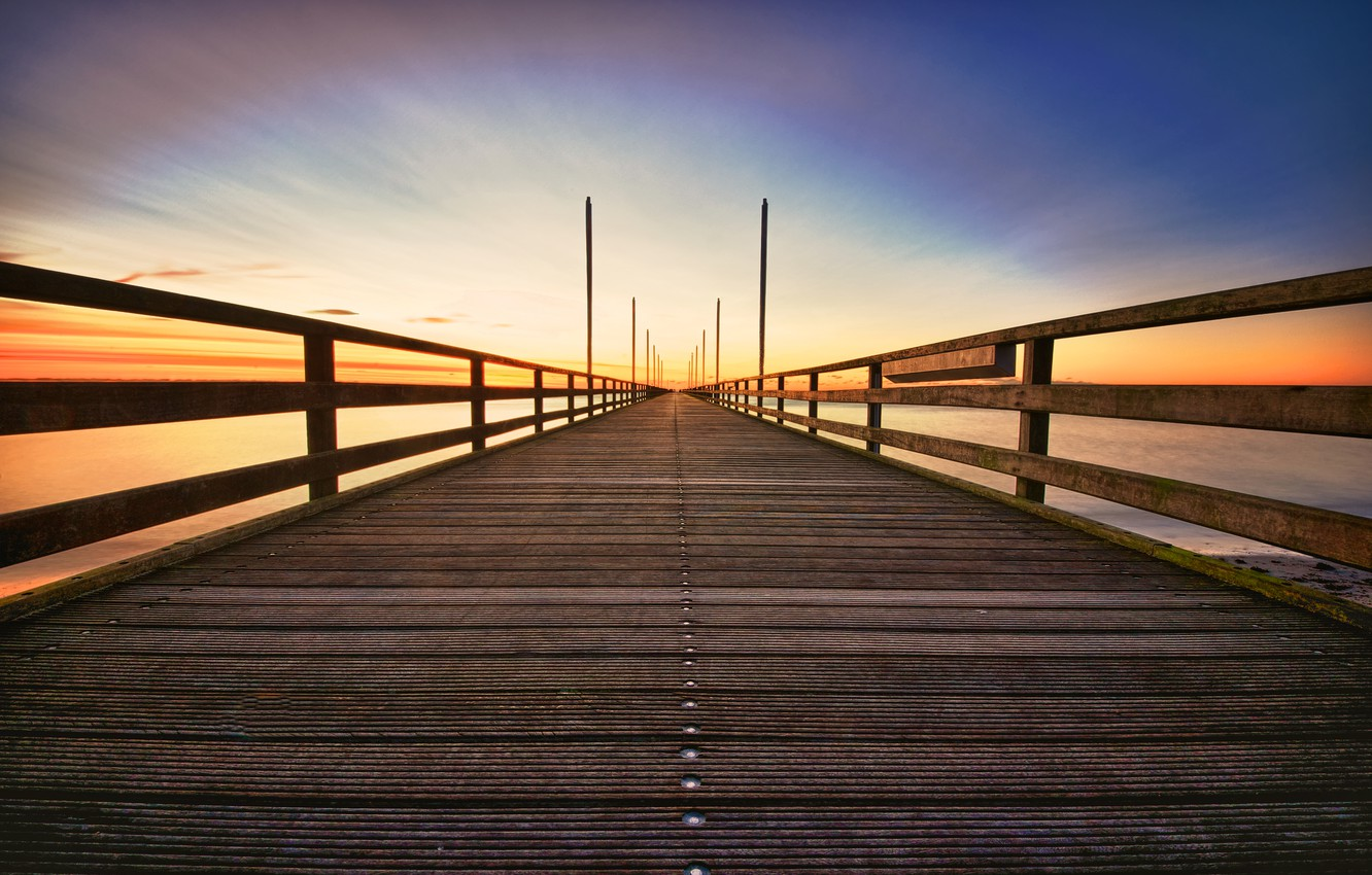 wallpaper the sky, landscape, bridge, nature, background, widescreen