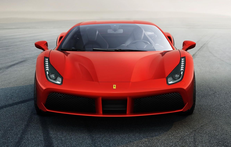 Photo wallpaper red, Ferrari, supercar, Ferrari, 2015, 488 GTB