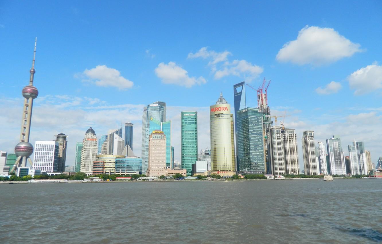 Wallpaper China Shanghai City Skyline Skyscraper Images