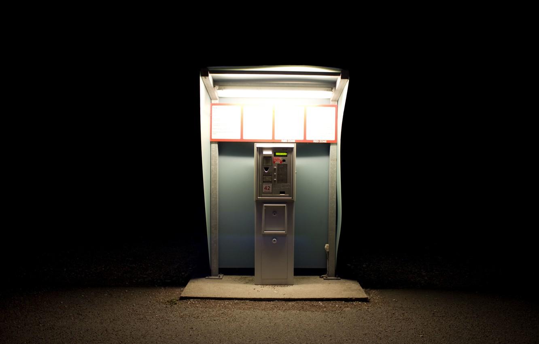 Photo wallpaper light, machine, Park, darkness, the ticket machine