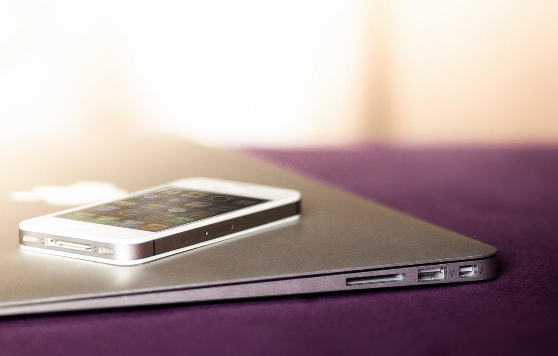 Photo wallpaper apple, macbook, iPhone, MacBook, iphone 4