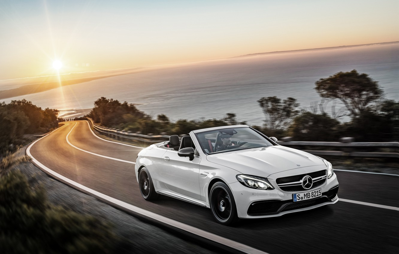 Photo wallpaper Mercedes-Benz, convertible, Mercedes, AMG, AMG, Cabriolet, C-Class, A205