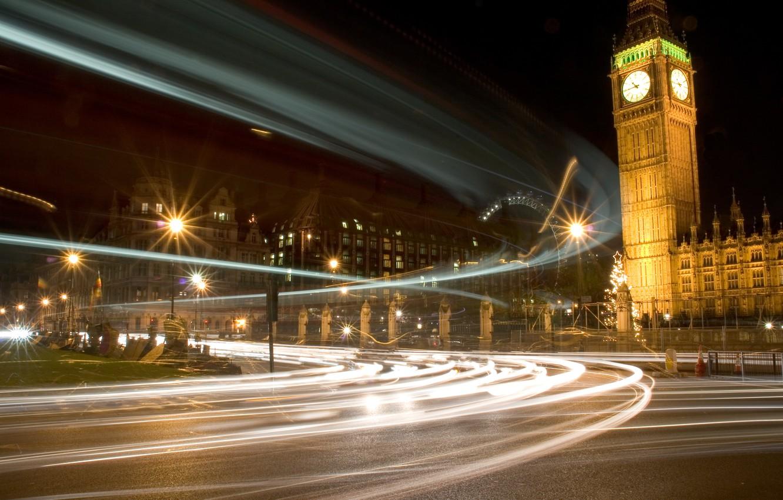 Photo wallpaper London, london, Westminster Lights, bigben