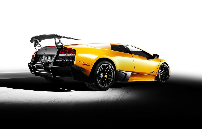 Photo wallpaper yellow, Lamborghini, Lamborghini Murcielago