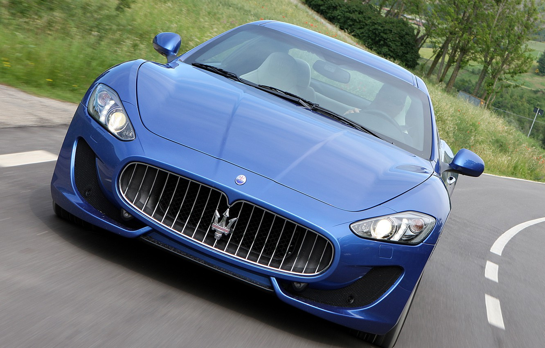 Photo wallpaper road, Maserati, GranTurismo, Maserati, the front, Sport