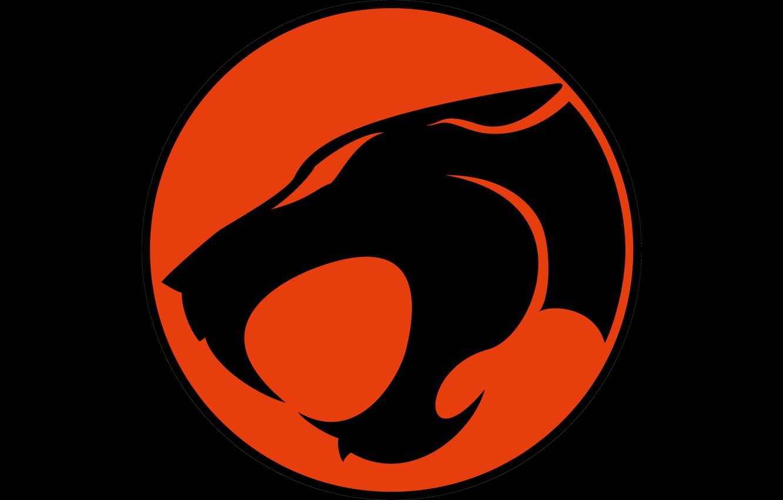 Photo wallpaper red, logo, black, Thundercats