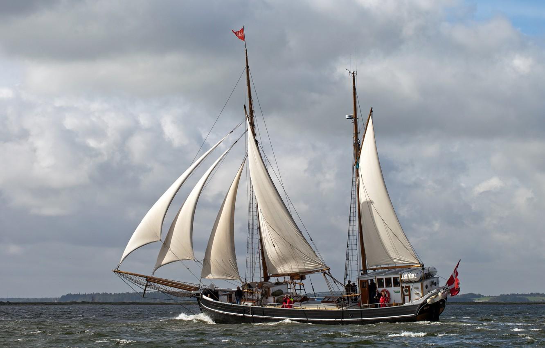 Photo wallpaper sailboat, Hjalm, galeas