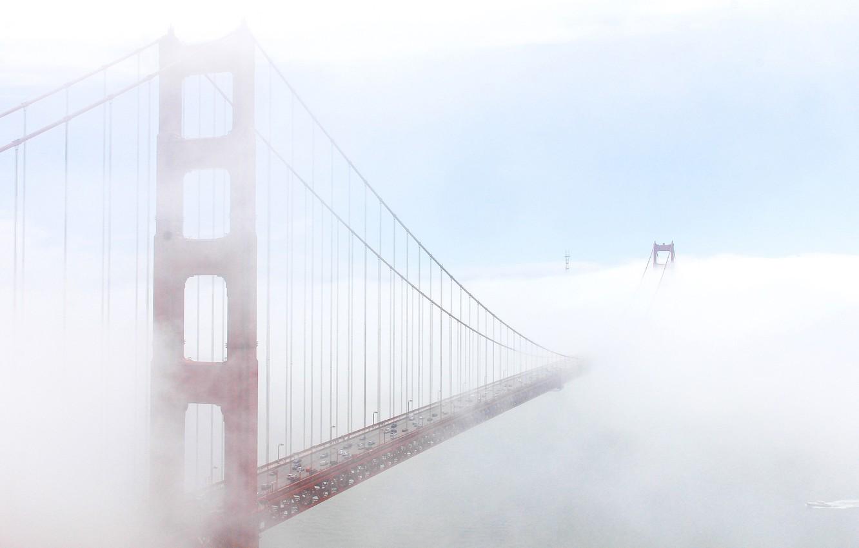 Photo wallpaper bridge, fog, Golden gate, San Francisco