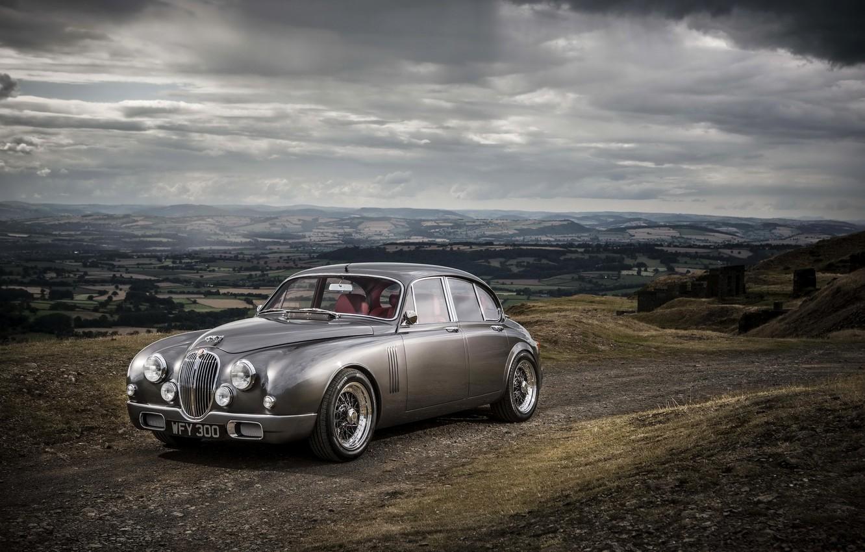 Photo wallpaper photo, grey, Jaguar, car, Ian Callum, Mark 2 b