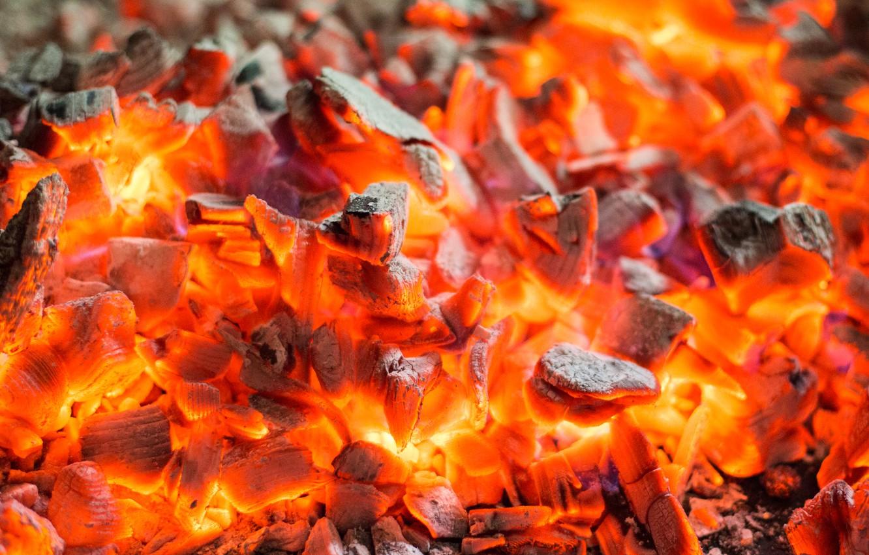 Photo wallpaper fire, coal, burn