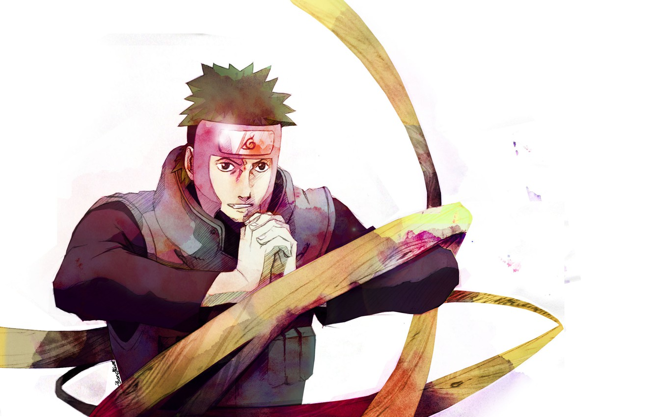 Photo wallpaper white background, naruto, Yamato, wood machinery
