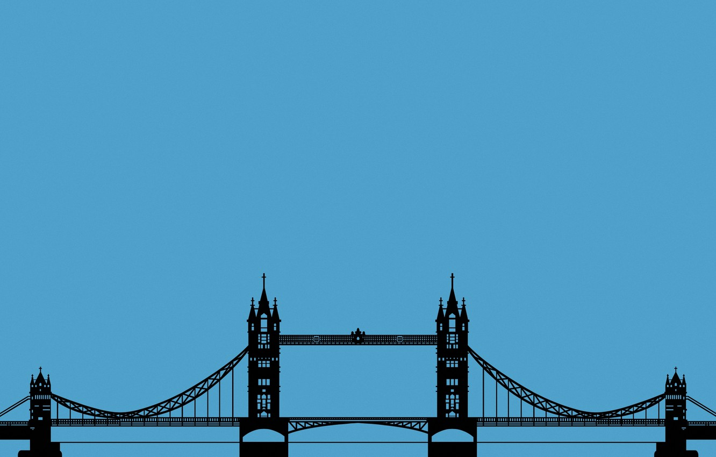 Photo wallpaper Wallpaper, England, London, minimalism, bridge, Tower Bridge, London, Tower bridge