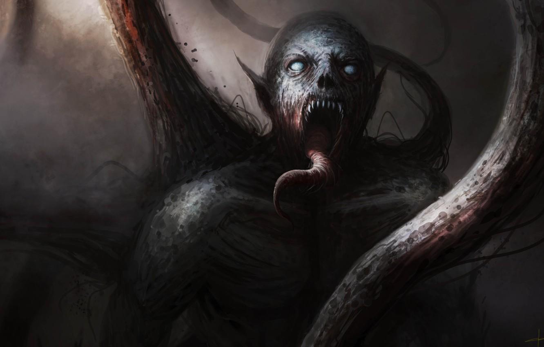 Photo wallpaper language, darkness, The demon, monster