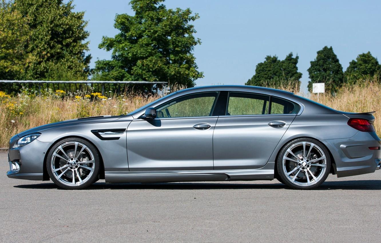 Photo wallpaper grey, drives, BMW 6-Series