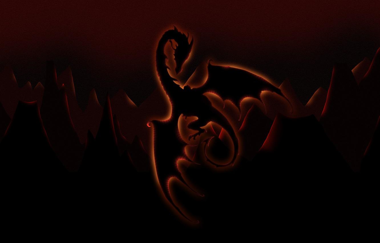 Photo wallpaper figure, glow, Dragon