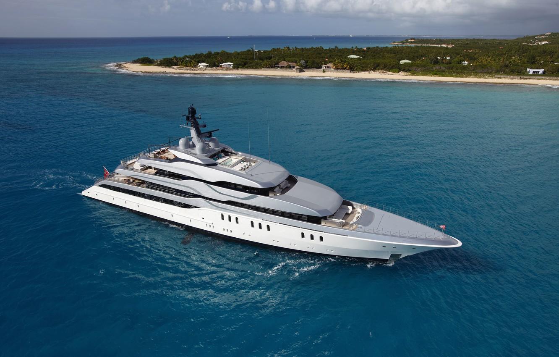Photo wallpaper the ocean, yacht, running, superyacht, feadship Tango