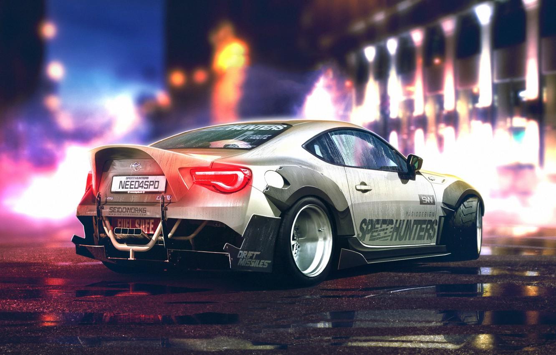 Photo wallpaper Toyota, Car, White, Sport, GT86, Rear, YASIDdesign