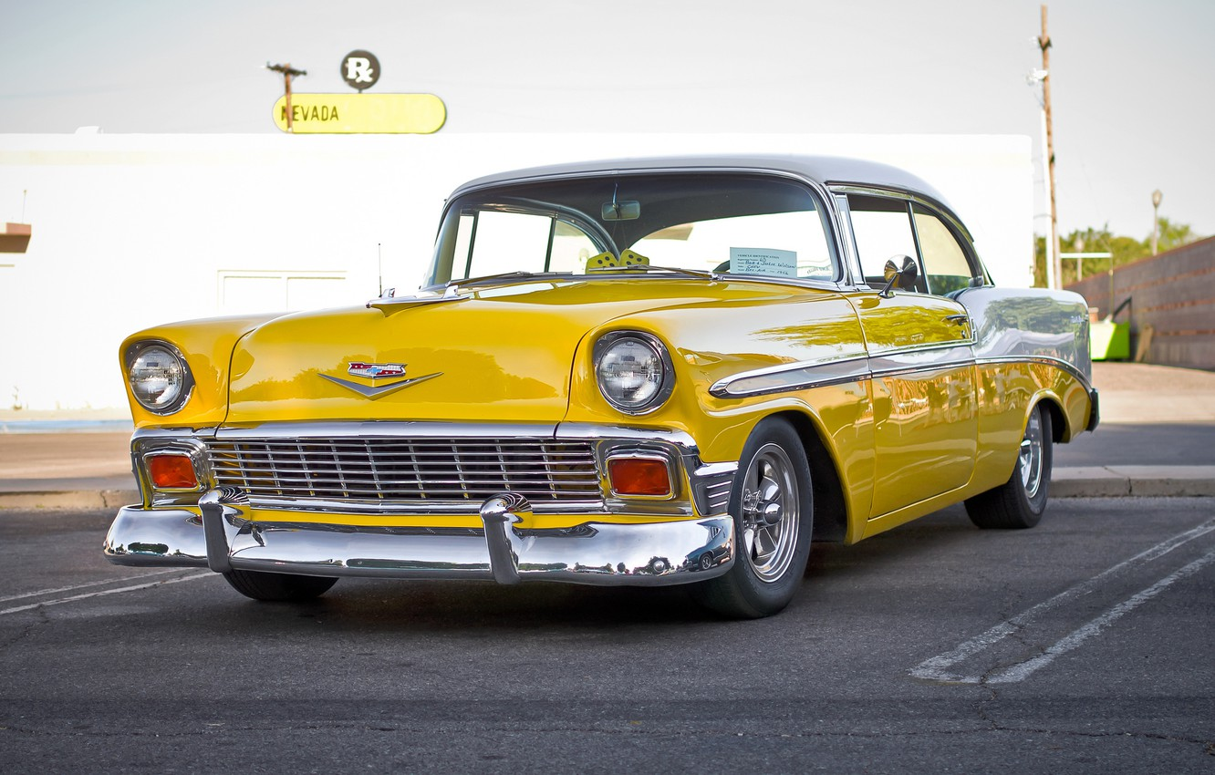 Photo wallpaper Chevrolet, Bel Air, Chevy, the front, 1956