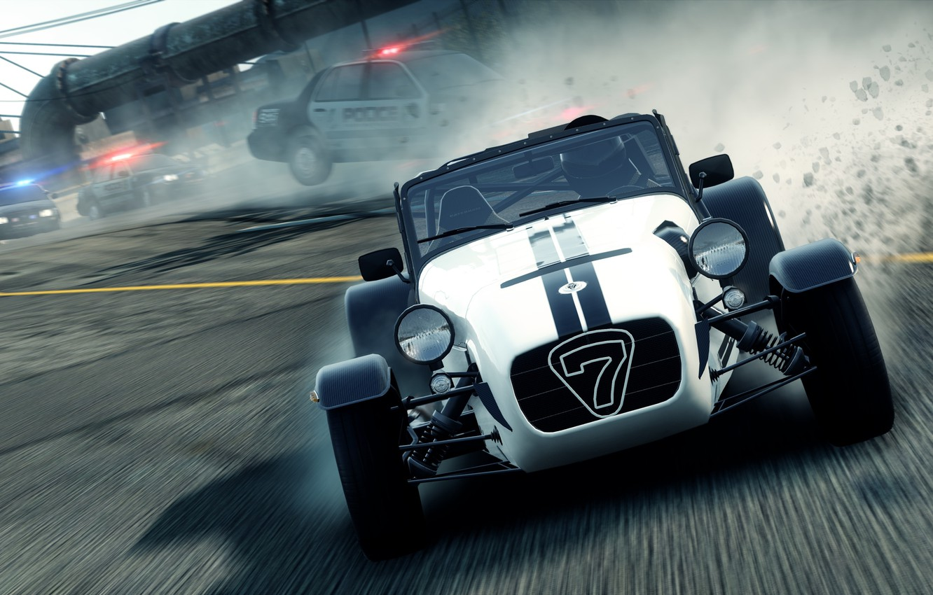 Photo wallpaper the city, race, chase, need for speed most wanted 2, Lotus caterham seven superlight r500