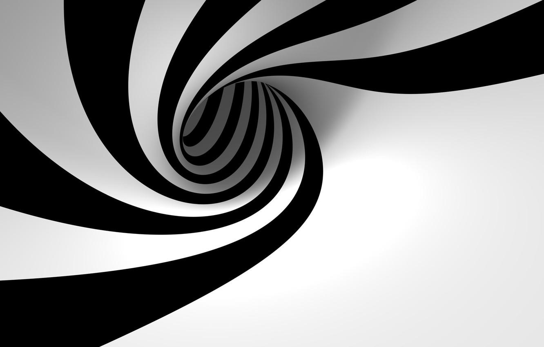 Photo wallpaper black and white, spiral