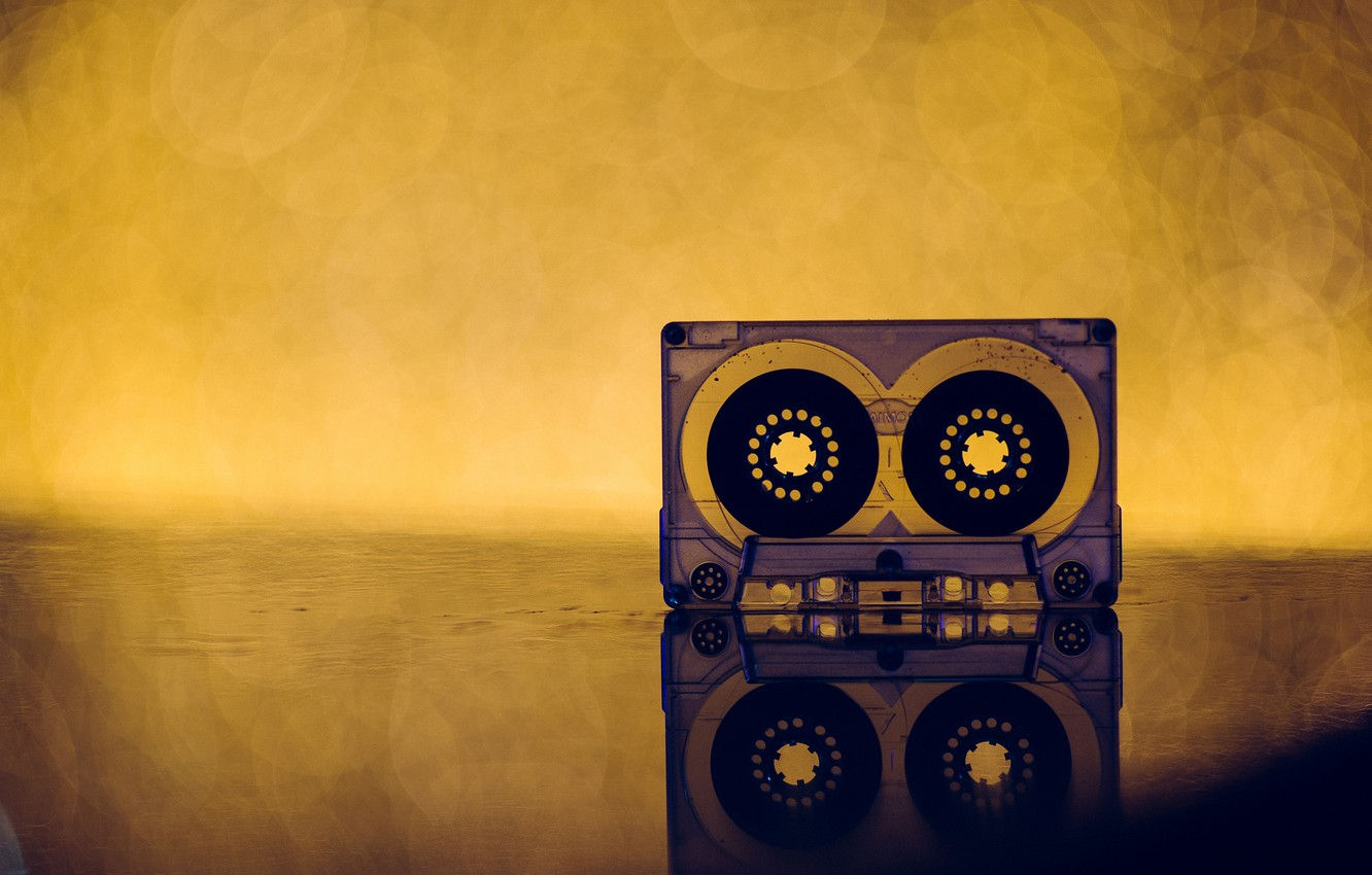 Wallpaper Retro Music Background Cassette Images For