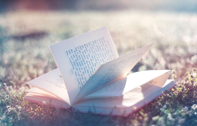 Photo wallpaper gentle, book, book