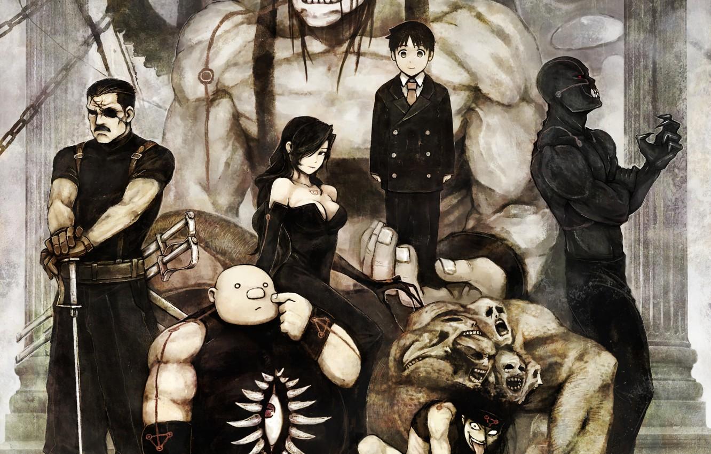 Photo wallpaper brotherhood, Fullmetal alchemist, all., homonculi