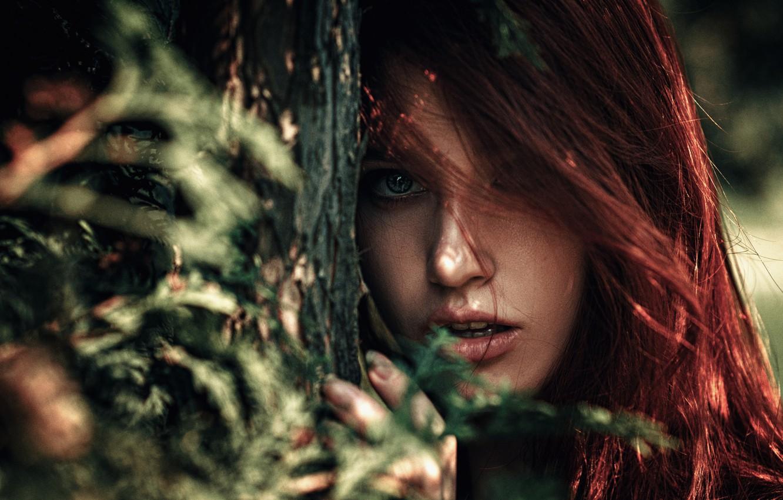 Photo wallpaper girl, macro, face, sweetheart, portrait, light, red, the beauty, nature, eyes, art, pretty, mood, inspiration, …