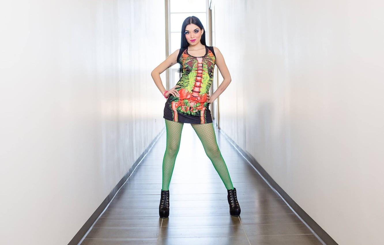 Photo wallpaper mesh, Gothic, piercing, brunette, tights, gothic, gatesy, Persephone Bleeds, tiffany tailfeathers, gothic girl