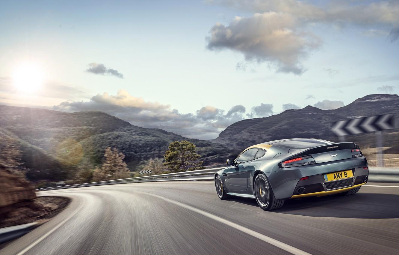Photo wallpaper Aston Martin, Vantage, Speed, Turn, Car, Speed, Aston Martin, N430