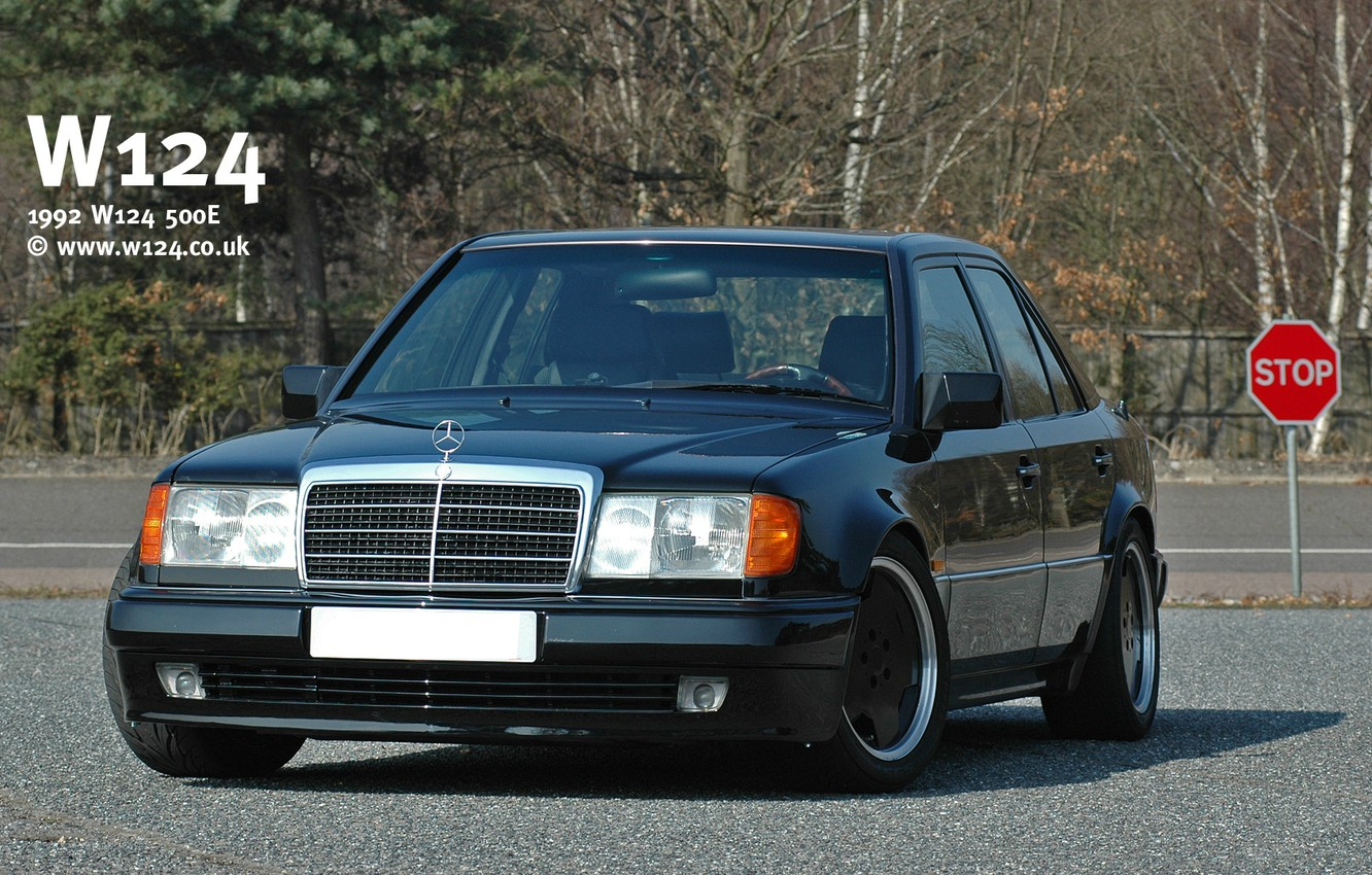 Photo wallpaper mercedes-benz, w124, dorest, 500E